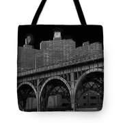 Black White City Tote Bag