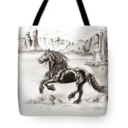 Black Wind Tote Bag