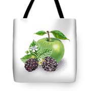 Blackberries And Green Apple Tote Bag