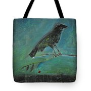 Blackbird Redberry Tote Bag