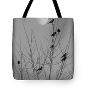 Blackbirds By The Moon Tote Bag