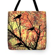 Blackbirds In A Tree Tote Bag