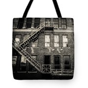 Blackened Fire Escape Tote Bag