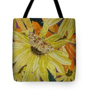 Blackeyed Susans And Butterfly Tote Bag