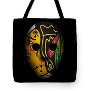 Blackhawks Goalie Mask Tote Bag