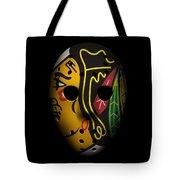 Blackhawks Goalie Mask Tote Bag