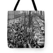 Blackout Jams Brooklyn Bridge Tote Bag