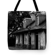 Blacksmith Shop On A Rainy Day Bw Tote Bag