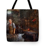 Blacksmith - Working The Forge  Tote Bag by Mike Savad