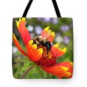 Blanket Flower And Bumblebee Tote Bag