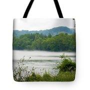 Blanket Of Fog On Clinch River  Tote Bag