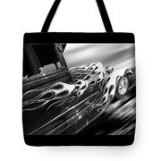 Blazing A Trail - Ford Model A 1929 In Black And White Tote Bag