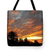 Blazing Christmas Sunset Tote Bag