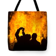 Blazing Fire Tote Bag