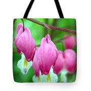 Bleeding Hearts Flowers Tote Bag