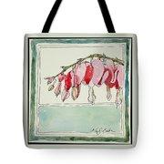 Bleeding Hearts II Tote Bag by Mary Benke