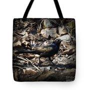 Blending In Metallic Starling Tote Bag