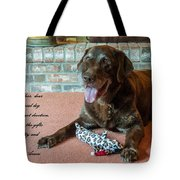 Bless This Dog Tote Bag