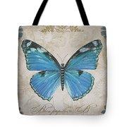 Bleu Papillon-b Tote Bag