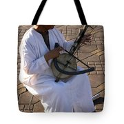 Blind Man Place Djemna Al Fna Marrakesh Morocco Tote Bag by Ralph A  Ledergerber-Photography