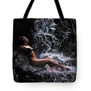 Bliss. Anna At Eureka Waterfalls. Mauritius Tote Bag