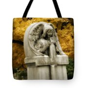 Blissful Angel In Autumn Tote Bag