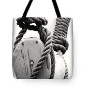 Block And Tackle Of Old Sailing Ship Tote Bag