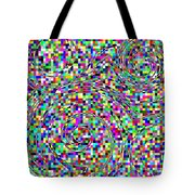 Blocks And Swirls Tote Bag