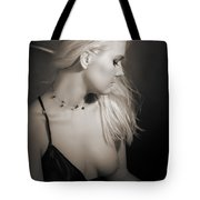 Blond Girl With Naked Breast 1287.01 Tote Bag
