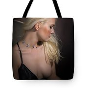 Blond Girl With Naked Breast 1287.02 Tote Bag