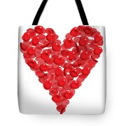 Blood Cells Heart Tote Bag