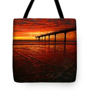 Blood Red Dawn Tote Bag