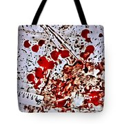Blood Spatter Tote Bag