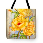 Blood Sweat And Tears Vignette Tote Bag
