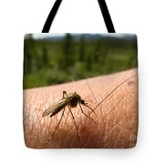 Blood Thirsty Mosquito On Human Arm Tote Bag