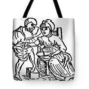 Bloodletting, 15th Century Tote Bag
