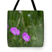 Bloody Cranesbill Wild Flowers Tote Bag
