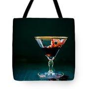 Bloody Eyeball In Martini Glass Tote Bag by Edward Fielding
