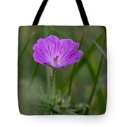 Bloody Geranium Wild Flower Tote Bag