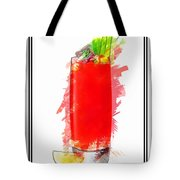 Bloody Mary Cocktail Marker Sketch Tote Bag
