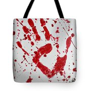 Bloody Print Tote Bag