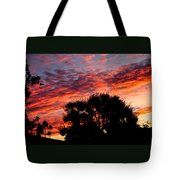 Bloody Sunset Over Palm Desert Tote Bag