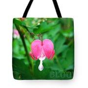 Bloom Bleeding Heart Tote Bag