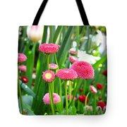 Bloom Pink English Daisies Tote Bag