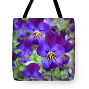 Bloom Purple Violets Tote Bag