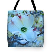 Bloom White Dogwood Tote Bag