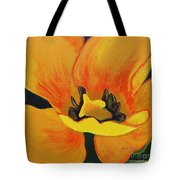 Bloomed Yellow Tulip Tote Bag