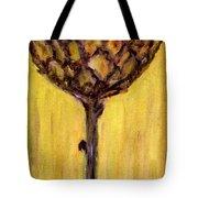 Blooming Artichoke - Cynara Cardunculus Tote Bag