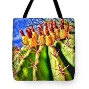Blooming Barrel Cactus By Diana Sainz Tote Bag