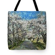 Blooming Cherry Tree Avenue Tote Bag